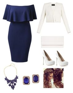 """romantic blue"" by mercedes-medina ❤ liked on Polyvore featuring M.N.G, BCBGMAXAZRIA and Effy Jewelry"