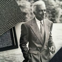How to do a DB in a Glen Check Flannel. Mr Ralph Lauren.  Photograph from Eric Musgrave's Sharp Suits #nyc #ralphlauren #ralphlaurennyc #ericmusgrave #classic #glenchecks #glencheck #suits #bespoke #iconic #sartorial #menswear #bespokesuits #elegant #polo #newyork