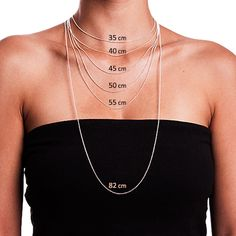 Necklace chain length reference diagram. | I'm Learning | Pinterest