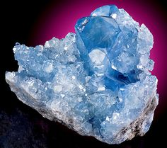 Celestite on matrix from Madagascar, via Exceptional Minerals