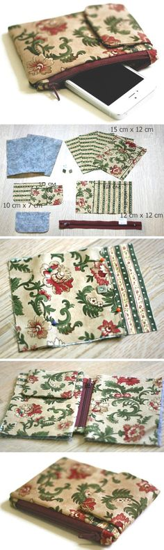 How to Sew a Pouch - Organizer for your phone. Photo Sewing Tutorial http://www.handmadiya.com/2016/03/case-organizer-for-your-phone-tutorial.html