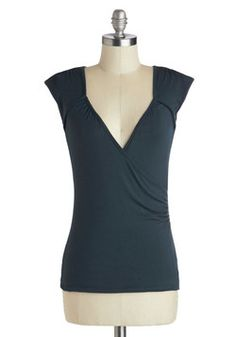 Seemingly Sew Top in Navy, #ModCloth