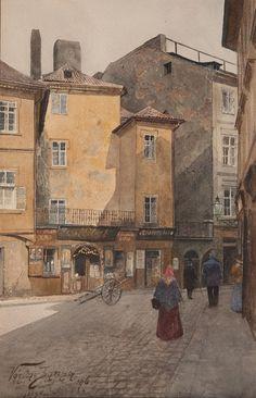 Václav Jansa, Josefská ulice, 1896, zdroj: Muzeum hlavního města Prahy