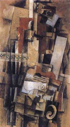 George Braque, Man with Guitar,1914