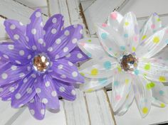 Check out this item in my Etsy shop https://www.etsy.com/listing/471353198/sale-polka-dot-tropical-lily-hair-clips