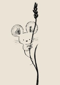 Chris Chatterton - Illustrator & Author - Mouse illustration by Chris Chatterto. - Chris Chatterton – Illustrator & Author – Mouse illustration by Chris Chatterton – - Cute Easy Drawings, Art Drawings Sketches Simple, Cute Animal Drawings, Animal Sketches, Pencil Art Drawings, Doodle Drawings, Doodle Art, Maus Illustration, Cute Animal Illustration