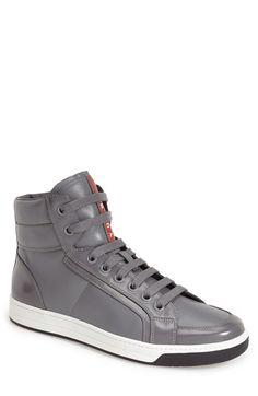 Men's Prada 'Avenue' High Top Sneaker