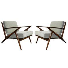 "Interior design, decoration, furniture, 1stdibs.com   Poul Jensen for Selig ""Z"" Chairs"