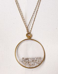 crystal locket filled with loose diamonds - so pretty