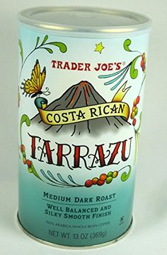 Trader Joe's Costa Rican Tarrazu 100% Arabica Roasted Whole Bean Coffee (13 Oz.) ** More info could be found at the image url.