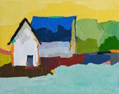 Blue Roof Barn  Oil Painting 8x10 Original di DonnaWalker su Etsy