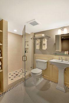 Farmhouse bathroom on pinterest farmhouse bathrooms for 7x9 bathroom designs