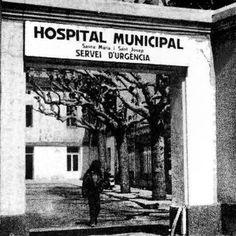 Así era antiguamente la entrada al hospital municipal de Badalona. #badalona #barcelona #hospitalbadalona