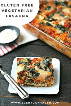 This Gluten-Free Vegetarian Lasagna is a family favorite! Allergen friendly, it's the ultimate real food comfort food.