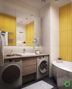 Bright bathroom colors bright bathroom colors designs by style cheerful bright bathroom colors 3 open layout . Decoration Inspiration, Interior Design Inspiration, Bathroom Inspiration, Design Ideas, Decor Ideas, Asian Interior, Yellow Interior, Luxury Home Decor, Home Decor Trends