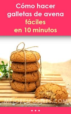 Cómo hacer galletas de avena fáciles en 10 minutos Pastry Recipes, Bread Recipes, Cookie Recipes, Avena Recipe, Low Carb Recipes, Healthy Recipes, What To Cook, Sin Gluten, Rice Krispies