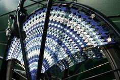 Gehaakte jasbeschermers (blauw) | simeli.nl