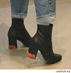 edd8e3aab8e0 Jeans and black boots with some fire - LadyStyle Shoes Heels