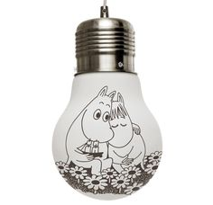 Muumi Valaisin, Ikuisesti Yhdessä / Moomin Glow Lamp, Together Forever Glow Lamp, Tove Jansson, Moomin Valley, Together Forever, Finland, Just In Case, Illustration, Light Bulb, Branding Design