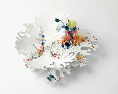 Kate Bajic Carly Petitt-Taylor Brooch: Flourish, 2015 Silver, copper, monofilament, paint 10 x 11 x 5cm Side view Collaborative piece © By the author. Read Klimt02.net Copyright.