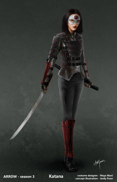 "Concept art of Katana from ""Arrow"" Season 3 (2014) by Andy Poon."