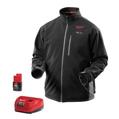 NEW MILWAUKEE TOOL 2395-L LARGE BLACK M12 CORDLESS HEATED JACKET LI-ION BATTERY in Clothing, Shoes & Accessories, Men's Clothing, Coats & Jackets | eBay
