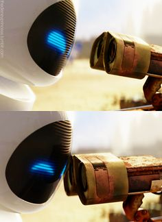 "Andrew Stanton on creating Wall-E: ""...The greatest commandment Christ gives us is to love, but that's not always our priority. So I came up with this premise that could demonstrate what I was trying to say—that irrational love defeats the world's programming. You've got these two robots that are trying to go above their basest directives, literally their programming, to experience love."""