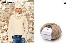 Rico Essentials Cashmere Recycled dk: hochwertiges Kaschmirgarn aus 95 % Kaschmir und 5 % Wolle. #Rico Design #stricken #knitting #wool #tricot