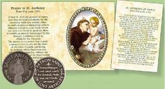 Pocket Token - Saint Anthony Patron Saint of Lost Articles Special Words, Patron Saints, Booklet, Catholic, Angels, Roman Catholic, Angel