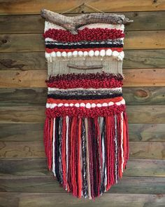 MADE TO ORDER. Handmade woven wall hanging. Made in Chile with natural wool and driftwood from Lago Puyehue. Measures 15x39 inches. It takes me three weeks to do it and three more weeks to arrive.