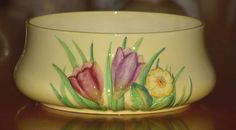 RARE CARLTON WARE CROCUS FLORAL EMBOSSED BULB BOWL # 1766 /2 slight damage in Pottery, Porcelain & Glass, Porcelain/ China, Carlton Ware | eBay
