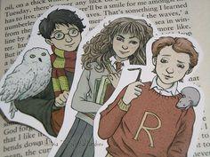 Harry Potter bookmark  Gryffindor trio Harry by SillyLunastorta
