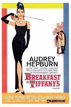 old movie poster for Breakfast at Tiffany's