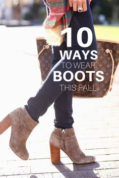 It& boot season and that means changing your outfits to better suit your favorite boots (haha rhyme time).I rounded up my 10 favorite boot styles, which may be impartial to myself but hey, who kn. Fall Winter Outfits, Autumn Winter Fashion, Look Fashion, Fashion Boots, Fall Fashion, Womens Fashion, Ugg Boots, Shoe Boots, Fall Boots