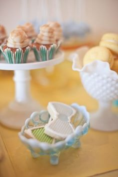Bowtie Baby Shower, love the mini cupcakes & bowtie cookies