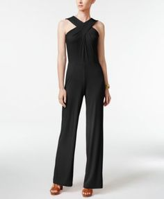 1bd231103 MICHAEL Michael Kors Crossover Wide-Leg Jumpsuit   Reviews - Pants   Capris  - Women - Macy s