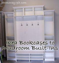 Adicionando Mudroom Built-Ins para a garagem via TheKimSixFix.com