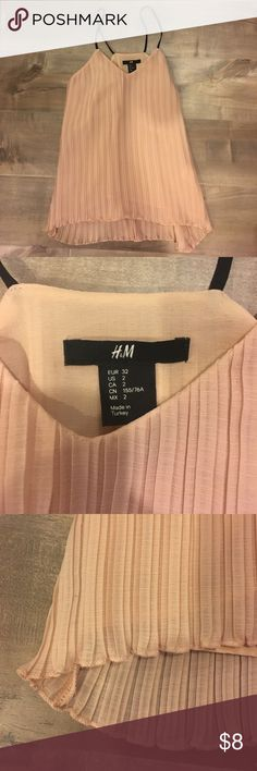 H&M flowy tank Super cute light pink tank. Pleated and flowy. Excellent condition!  bundle and save! H&M Tops Tank Tops