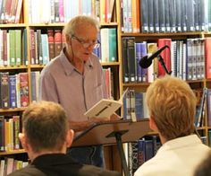 And the winners are... Our first ever writing competition prize giving. Short Story Judge, David Constantine.