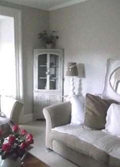 Corner Cupboard, Mirror, Lamp and Cushions