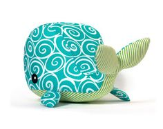 Whale stuffed animal pattern free..
