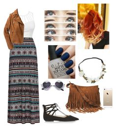 """Hippie #2"" by thaisa-tcs ❤ liked on Polyvore featuring Monsoon, Topshop, OPI, Brinley Co and Exclusive for Intermix"