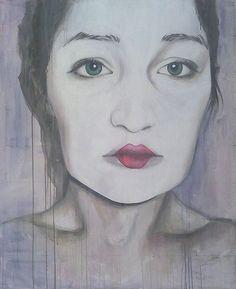 geisha, acrylic on canvas, 135x110 cm