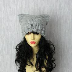Womens Hat Knit  Hat Cat Ears Women Hat Cat by AlbadoFashion, $28.00