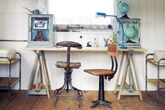 amazing workspace with salvaged materials | blogged.