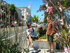 Parklet in San Francisco - Valencia street