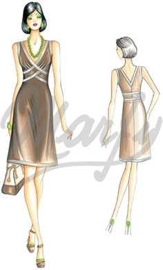 Marfy Cross Over Dress Model 2747 | Sewing Pattern Dress