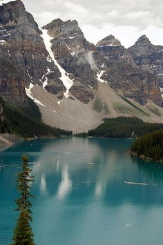 Moraine Lake Alberta Canada.I would like to visit this place one day.