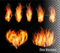 Fire on Transparent Background Vector EPS. Download here: https://graphicriver.net/item/fire-on-transparent-background-vector/13112540?ref=ksioks