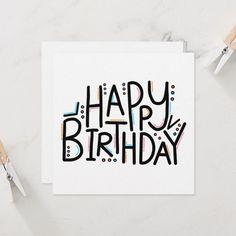 Happy Birthday Cards Handmade, Best Friend Birthday Cards, Creative Birthday Cards, Simple Birthday Cards, Happy Birthday Greetings, Happy Birthday Card Design, Beautiful Birthday Cards, Personalized Birthday Cards, Birthday Design